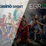 I loghi di StarCasinò.sport, EGR Italy Awards e alcuni sportivi in azione