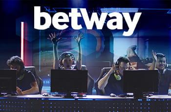 Il logo di Betway, un'arena con un torneo di eSports