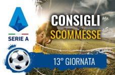 I pronostici scommesse della tredicesima giornata di Serie A 2020-2021