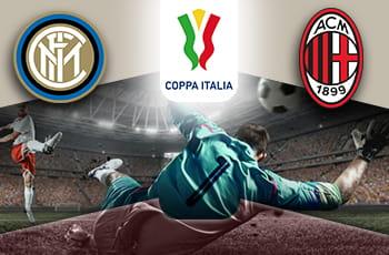 I loghi di Inter, Milan e Coppa Italia