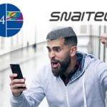 I loghi di G4 e Snaitech e un ragazzo con uno smartphone