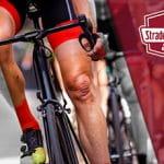 Il logo della Strade Bianche 2021, dei ciclisti generici in azione