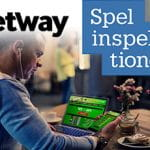 Il logo di Betway, il logo di Spelinspektionen, un giocatore online
