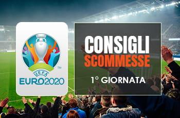 Consigli scommesse Euro 2020: pronostici prima giornata