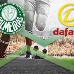 Il logo del club Palmeiras e il logo del bookmaker Dafabet