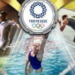 Il logo delle Olimpiadi di Tokyo 2020 e degli atleti in azione