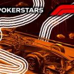 I loghi di Pokerstars e della Formula 1 e una monoposto