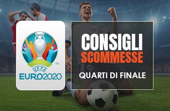 Consigli scommesse Euro 2020: pronostici quarti di finale