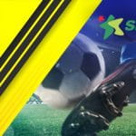 Calciatore in azione, logo Sisal, logo Juventus.