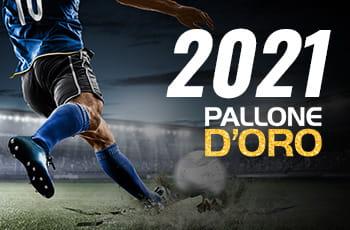 Calciatore in azione, Pallone d'oro 2021.