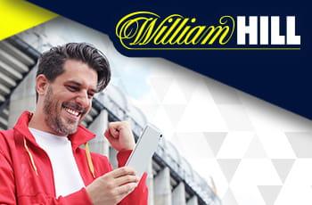 Persona che scommette, logo William Hill.